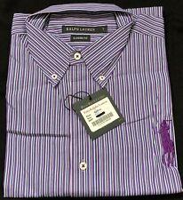 Polo Ralph Lauren Classic Fit Camisa a rayas de mangas largas para Hombre Grande Big Pony Estilo