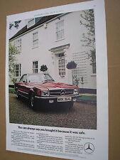 vintage 1973 advert, mercedes benz 350sl