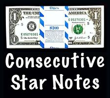 2003A Richmond 1$ Consecutive Star Notes From BEP Strap Replacement Notes UNC E1