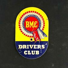 BRITISH MOTOR CORPORATION BMC DRIVERS CLUB MELAMINE CAR CLUB BADGE EMBLEM