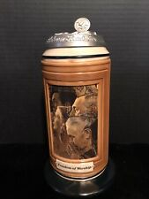 Anheuser Busch Four Freedoms Pewter Lidded Stein-Freedom Of Worship-New