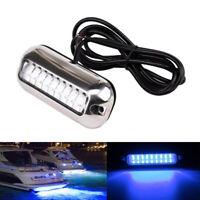 Blau 27 LED Bootsbeleuchtung Unterwasser Beleuchtung Hecklicht Lampe Wasserdicht