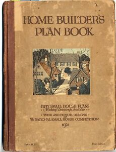 RARE Original 1921 HOME BUILDER'S PLAN BOOK 50 Small House Plans Competition