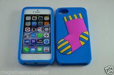 Blue Christmas XMas Stocking Sock 3D - iPhone 4 4s Silicone Gel Full Back Case