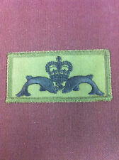 Submariner Patch (Dolphins & Crown) on olive