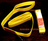 "2x EE1-902 x 6ft Polyester Web Lifting Sling 2""x6' Lifting Tow Strap eye to eye"