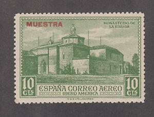 Spain San PP70 MNH. 1930 10c Monastery w/ MUESTRA Specimen ovpt