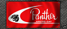 VINTAGE SNOWMOBILE ARCTIC CAT PANTHER GARAGE BANNER