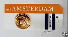 ms Amsterdam...cruise ship... HAL ...Bag Tag..  Mariner
