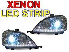 USA 02-05 Mercedes W163 M ML Class DRL Style LED Strip Xenon HID Headlight