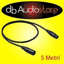 Proel CHL250LU5 Cavo Microfonico Canon per Microfono Karaoke connettori Neutrik