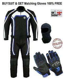 Men's Motorbike Suit CE Armors Jackets Trouser Gloves Biker Rider Balaclava Mask