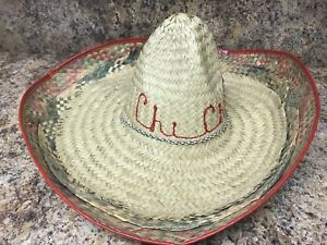 Authentic Original Chi Chi's Mexican Restaurant Sombrero Woven Straw Party Hat