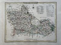 1804 Berkshire Original Antique Hand Coloured County Map by Cole & Roper