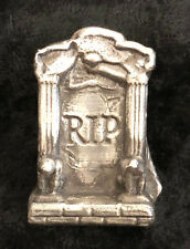"2 Troy Oz MK BarZ ""RIP"" Head Stone .999 FS"