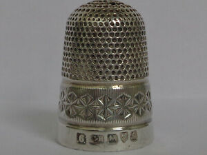 Large Heavy Antique Charles Horner Silver Thimble Hallmarked Chester 1907