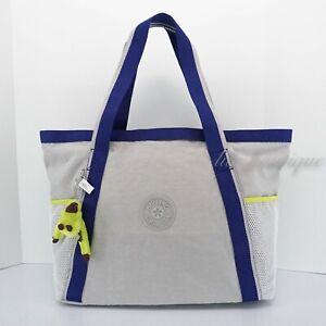 NWT Kipling KI1223 Bombay Beach Large Tote Handbag Purse Polyester Beach Grey 99