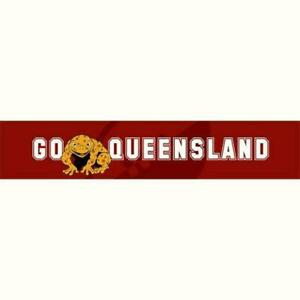 State Of Origin QLD Cane Toads Banner Rugby League Banner Maroon Decoration