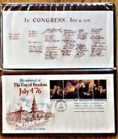 BICENTENNIAL JULY 4 '76 Official FIRST DAY COVER w FOLDER