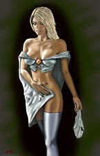 Emma Frost White Queen X-men tease marvel sexy 11x17 signed print Dan DeMille