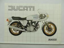 Vintage Ducati 900SS Super Sport Motorcycle Dealer Brochure Specifications L7008