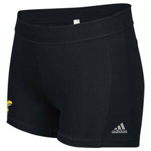 Kansas Jayhawks NCAA Adidas Women's Black Climalite Techfit Short Tights