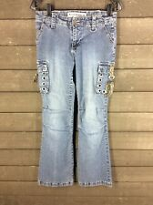 Joe Boxer 635 Blue Cargo Bootcut Jeans Junior's 7