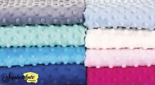 Dimple Dots Cuddle Plush Soft Fleece Fabric **FREE P&P** Fat Quarter/Half Meter