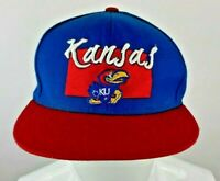 Kansas Jayhawks BLUE NCAA Sports Top of the World Adjustable Snap Back Hat Cap