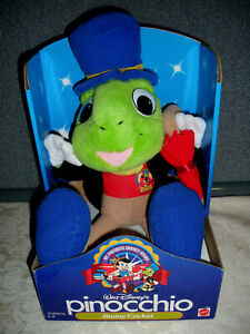 New VTG 1992 Walt Disney's Favorite Stars Jiminy Cricket Pinocchio Plush Mattel