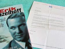 ERIK HAZELHOFF IN PURSUIT OF LIFE DeHavilland MOSQUITO Author Signed/Inscribed