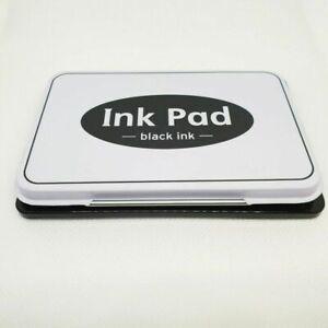 Stamp Black Ink Pads Craft Metal Tin Paper Wood Fabric Finger Print Stamper Date