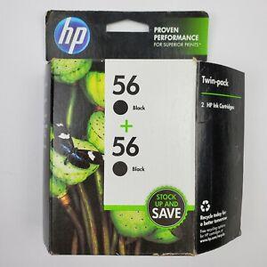 Genuine HP 56 C9319FN Combo 2 Pack Black Ink Cartridge New in Box Open Box