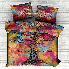 Blanket Duvet Comforter Cover Pure Cotton Handmade Indian Double Bed Set Hippie