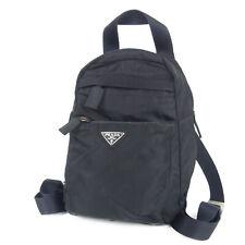 Auth PRADA Logos Tessuto Nylon Mini Backpack Bag Italy F/S 14858bkac