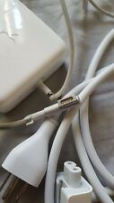 """Apple 13"""" Mac Book Pro AC charger. broken wire. works sometime"""