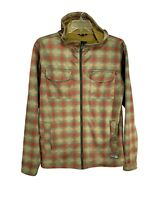 Burton Mens Hooded Snowboard Jacket Vintage Plaid Sz M Bonded Hoodie