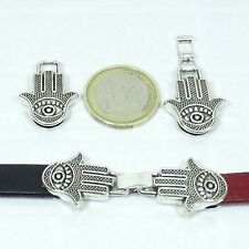 3 Cierres Para Cuero 52x18mm  T61  Plata Tibetana Leather Beads Cuir Clasps