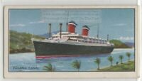 Panama Canal Ship Locks  Central America Vintage Trade Ad Card