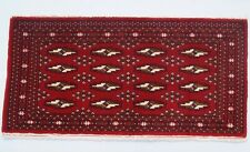 Turkoman red color home design handmade carpet wool rectangle area rugs 2X3ft