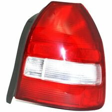 Halogen Tail Light For 1999-2000 Honda Civic Hatchback Right Clear & Red Lens