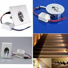 1W LED Encastrable Mural Lampe Escalier Couloir Spot corridor Eclairage 220V