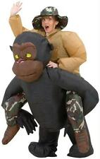 ADULT INFLATABLE RIDING GORILLA ILLUSION FUNNY COSTUME SS29059G