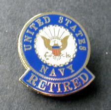 US NAVY RETIRED USN NEW LAPEL PIN BADGE 1 INCH