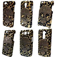 3D Bling Luxury Leopard Retro Vintage Skull Back Hard Skin Case Cover for Phones