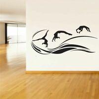 Wall Vinyl Sticker Decals Art Decor Gymnastics Yoga Gymnast Girl Olympics  #211