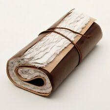 ROLL UP LEATHER JOURNAL TRAVEL DIARY SCROLL TRAVELERS NOTEBOOK HAND MADE