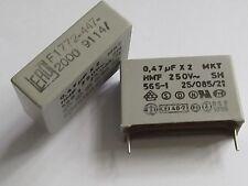 4 Stück MKT x2 0,47µF 250V~ Entstörkondensator ERO Roederstein 470nF RM27,5mm 4x
