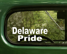 2 DELAWARE PRIDE STICKERs Native American Decal for Car Laptop Truck Window