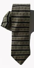 Eagle Menswear NEW Black Gold Striped Men's Neck Tie Silk 455 A3768